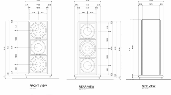 LSX subwoofer H-frame enclosures